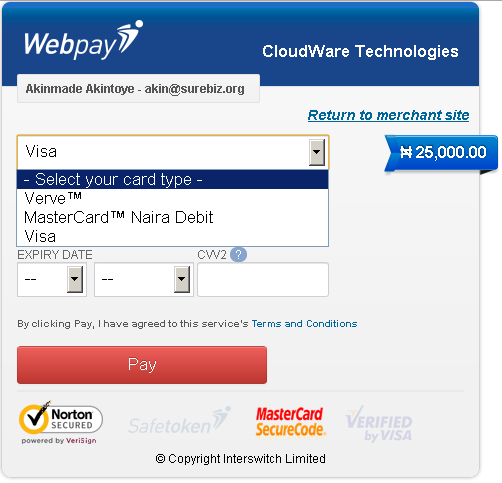 Dedicated Webpay for you